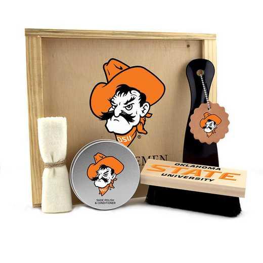 OK-OSU-GK1: Oklahoma State Cowboys Gentlemen's Shoe Care Gift Box