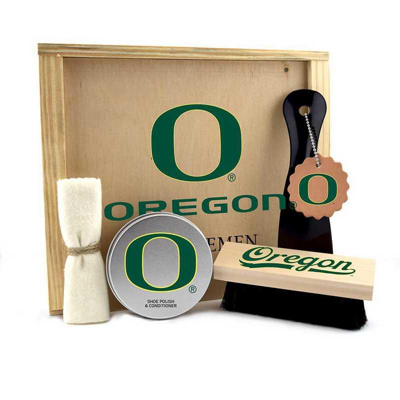 OR-UO-GK1: Oregon Ducks Gentlemen's Shoe Care Gift Box