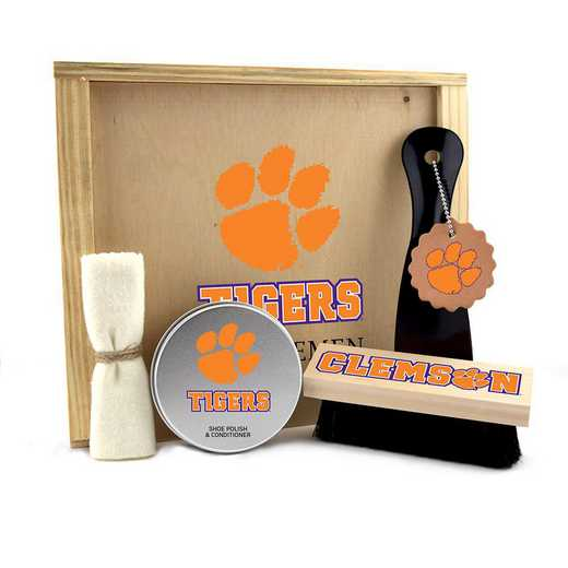 SC-CL-GK1: Clemson Tigers Gentlemen's Shoe Care Gift Box