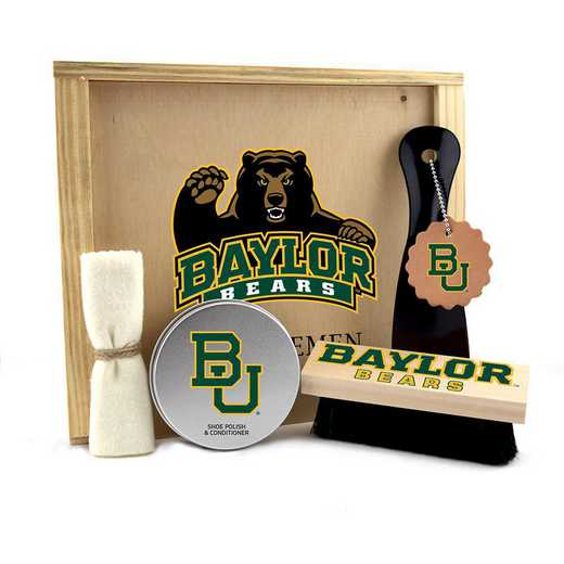 TX-BU-GK1: Baylor Bears Gentlemen's Shoe Care Gift Box