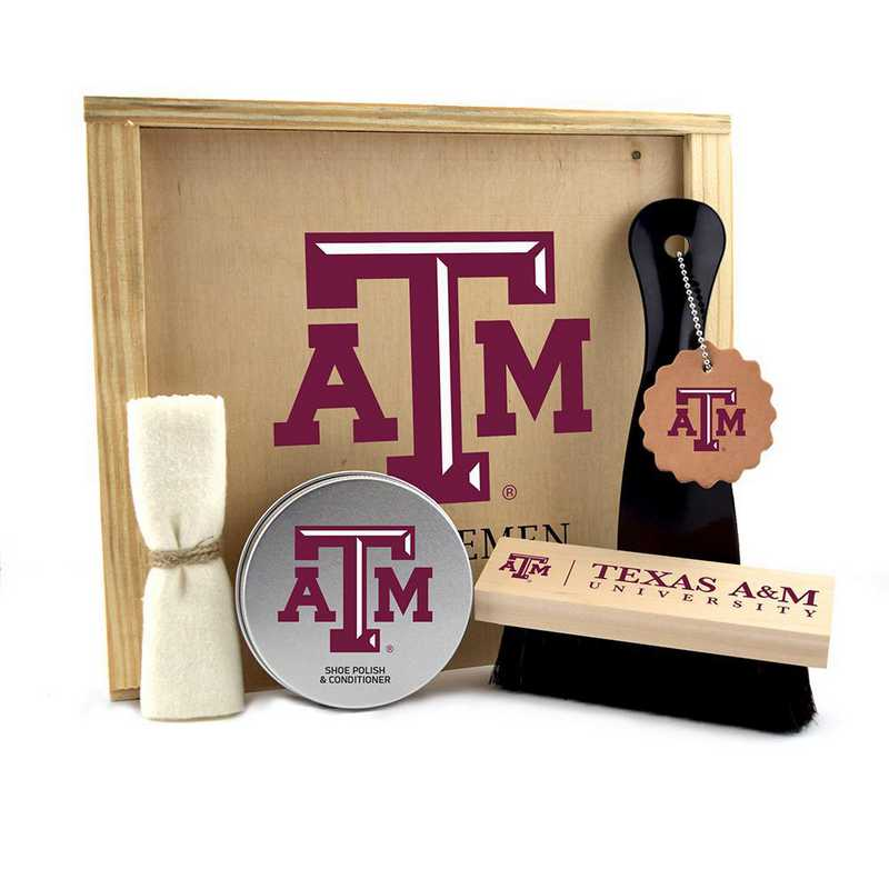 TX-TAM-GK1: Texas A&M Aggies Gentlemen's Shoe Care Gift Box