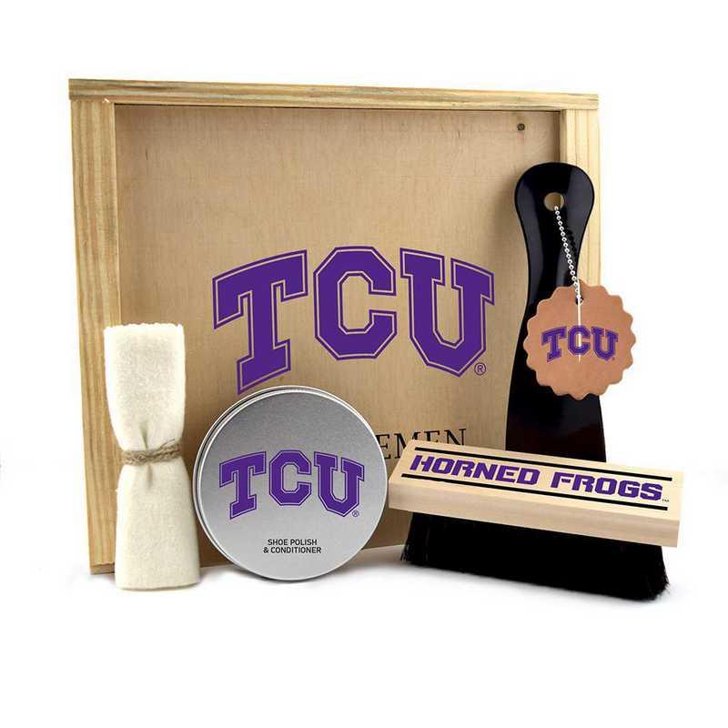 TX-TCU-GK1: Texas Christian Horned Frogs Gentlemen's Shoe Care Gift Box