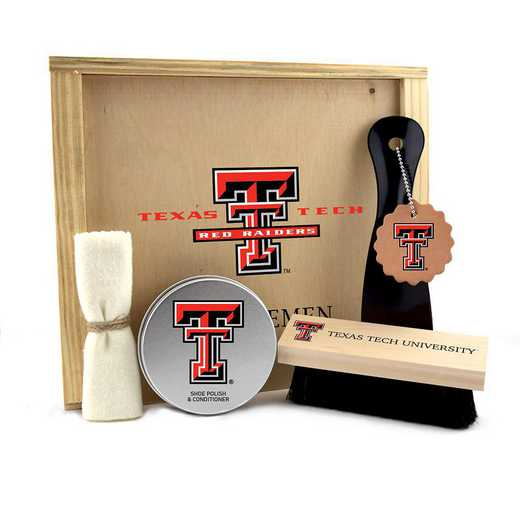 TX-TXT-GK1: Texas Tech Red Raiders Gentlemen's Shoe Care Gift Box