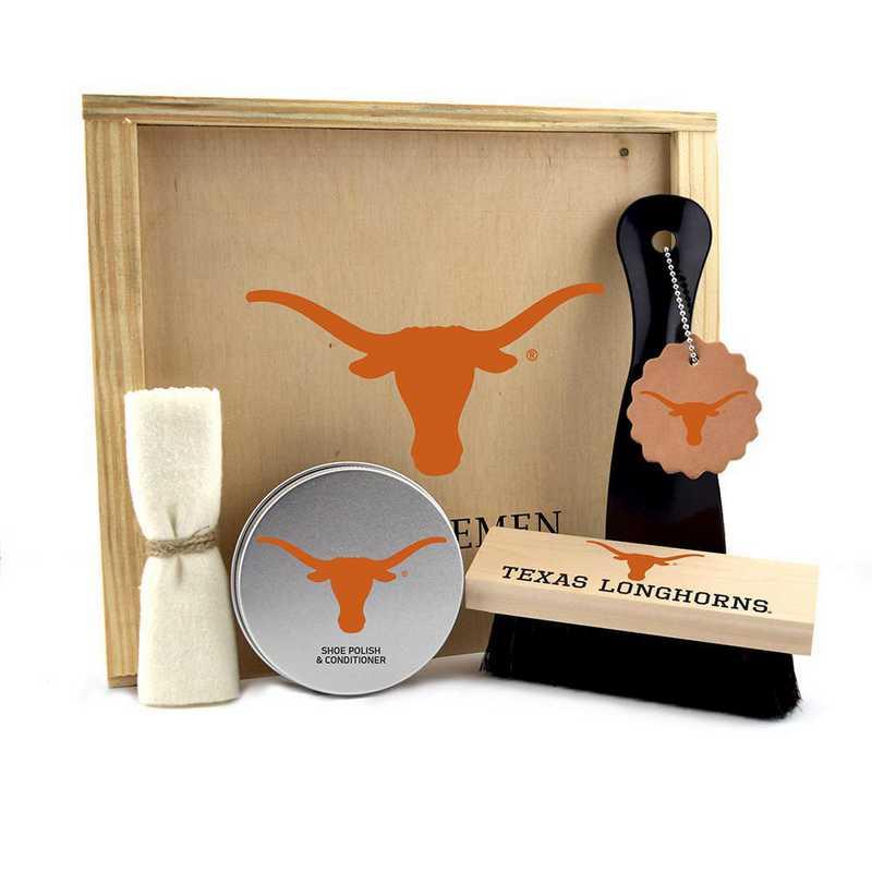 TX-UT-GK1: Texas Longhorns Gentlemen's Shoe Care Gift Box