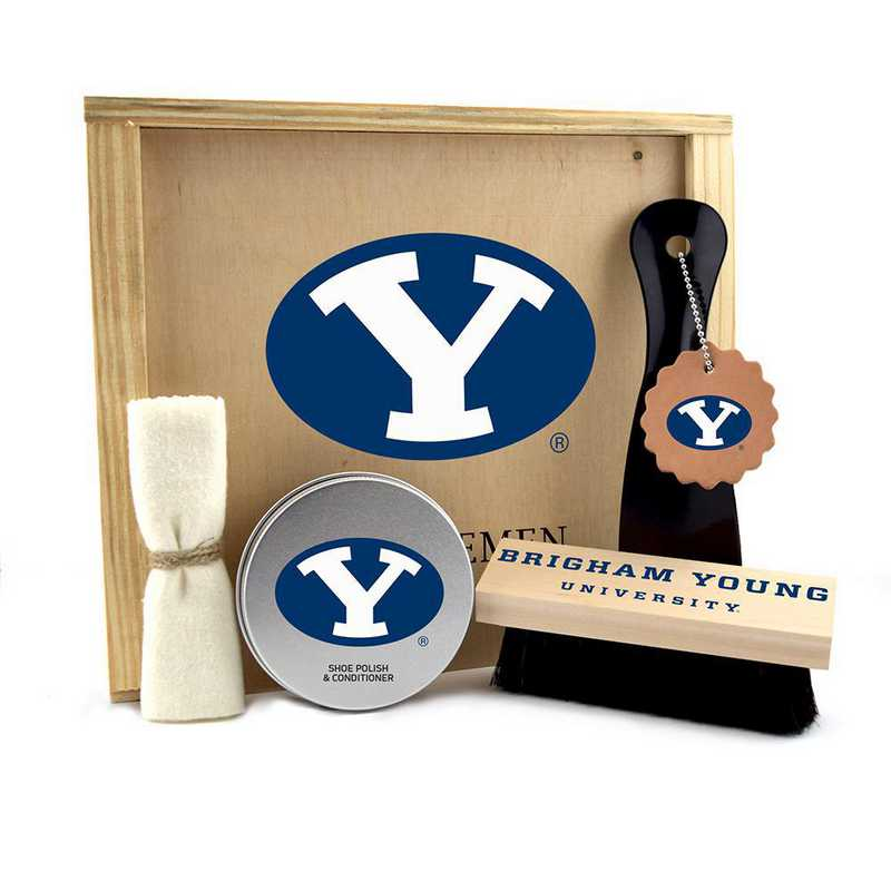 UT-BYU-GK1: Brigham Young Cougars Gentlemen's Shoe Care Gift Box