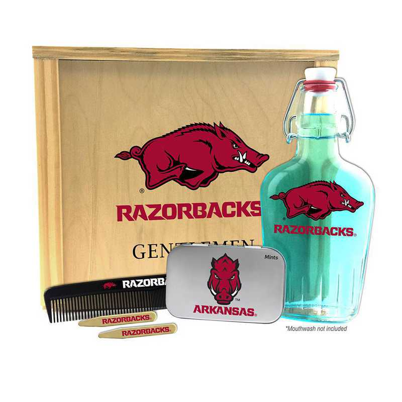 AR-UA-GK2: Arkansas Razorbacks Gentlemen's Toiletry Kit Keepsake
