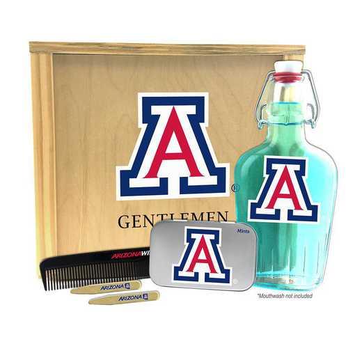 AZ-UA-GK2: Arizona Wildcats Gentlemen's Toiletry Kit Keepsake