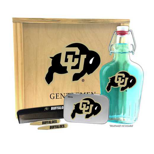 CO-UC-GK2: Colorado Buffaloes Gentlemen's Toiletry Kit Keepsake