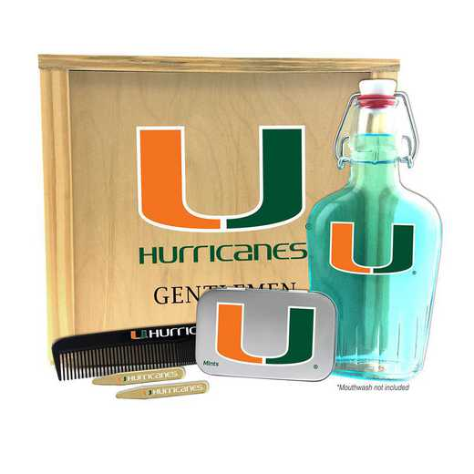 FL-UM-GK2: Miami Hurricanes Gentlemen's Toiletry Kit Keepsake