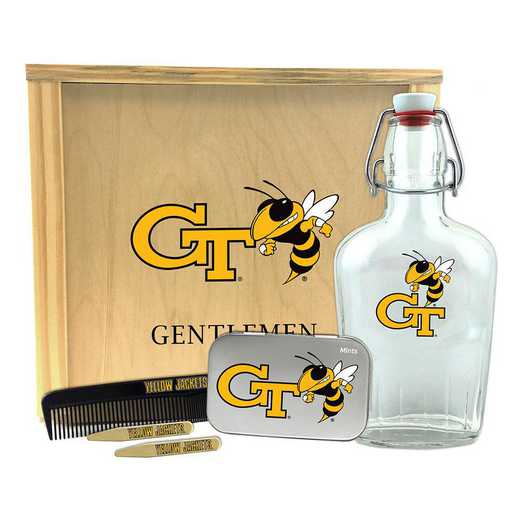 GA-GT-GK2: Georgia Tech Yellow Jackets Gentlemen's Toiletry Kit Keepsake