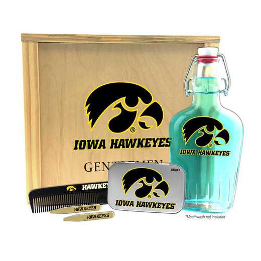 IA-UI-GK2: Iowa Hawkeyes Gentlemen's Toiletry Kit Keepsake