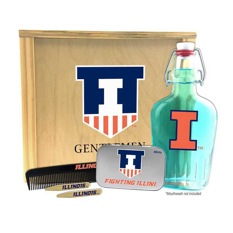 IL-UI-GK2: Illinois Fighting Illini Gentlemen's Toiletry Kit Keepsake