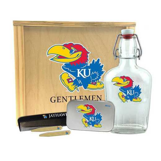 KS-KU-GK2: Kansas Jayhawks Gentlemen's Toiletry Kit Keepsake