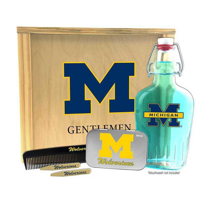 MI-UM-GK2: Michigan Wolverines Gentlemen's Toiletry Kit Keepsake