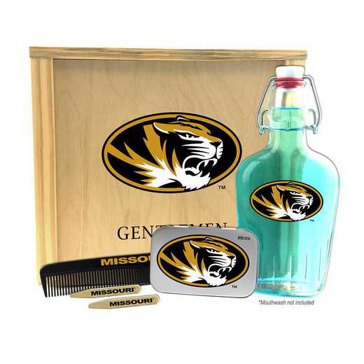 MO-UM-GK2: Missouri Tigers Gentlemen's Toiletry Kit Keepsake