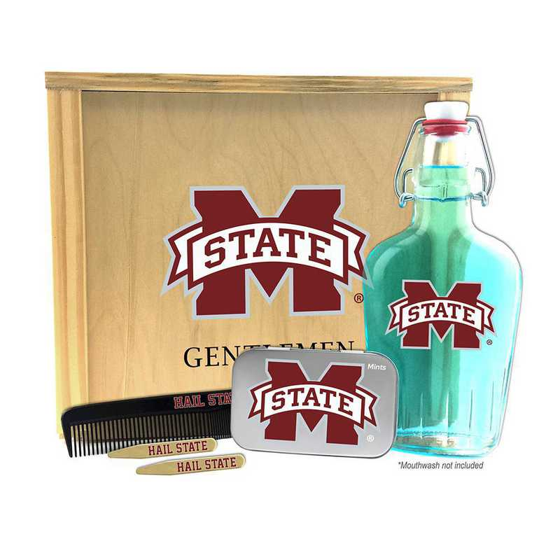 MS-MSU-GK2: Mississippi State Bulldogs Gentlemen's Toiletry Kit Keepsake