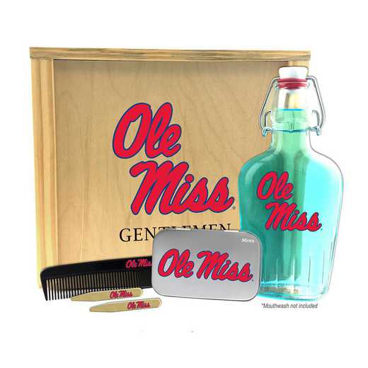MS-OM-GK2: Mississippi (Ole Miss) Rebels Gentlemen's Toiletry Kit Keepsake