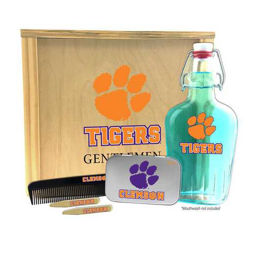 SC-CL-GK2: Clemson Tigers Gentlemen's Toiletry Kit Keepsake
