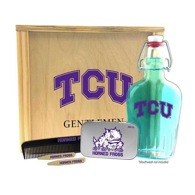TX-TCU-GK2: Texas Christian Horned Frogs Gentlemen's Toiletry Kit Keepsake