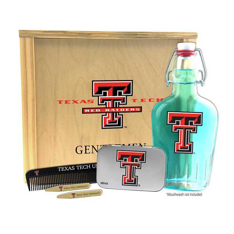 TX-TXT-GK2: Texas Tech Red Raiders Gentlemen's Toiletry Kit Keepsake
