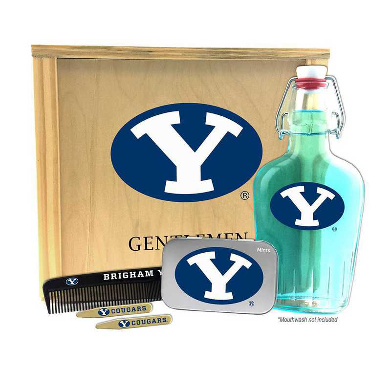 UT-BYU-GK2: Brigham Young Cougars Gentlemen's Toiletry Kit Keepsake