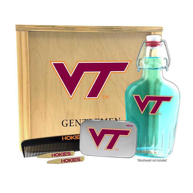 VA-VT-GK2: Virginia Tech Hokies Gentlemen's Toiletry Kit Keepsake