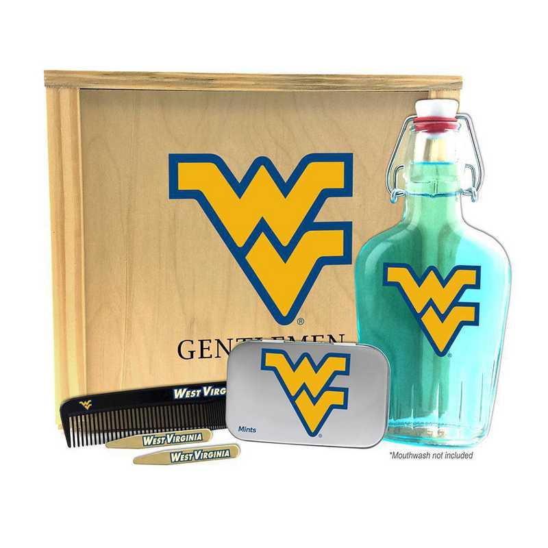 WV-WVU-GK2: West Virginia Mountaineers Gentlemen's Toiletry Kit Keepsake