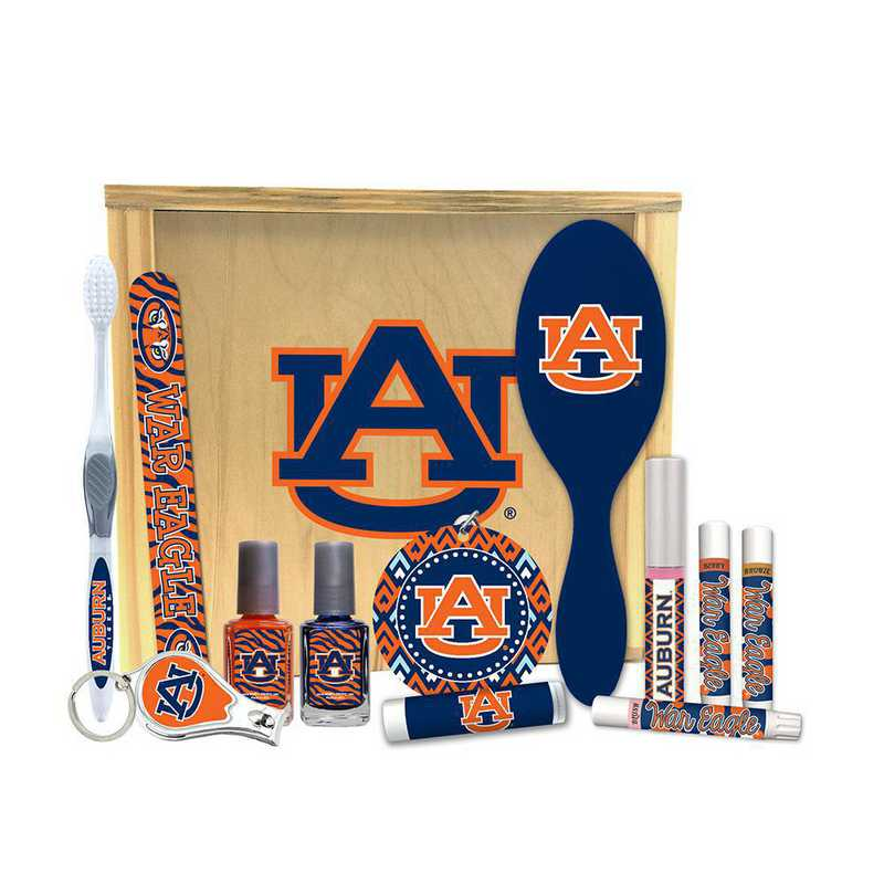 AL-AU-WBGK: Auburn Tigers Women's Beauty Gift Box (12 Pieces)
