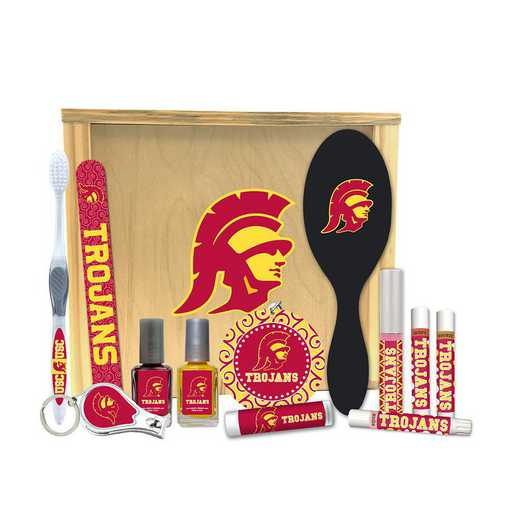 CA-USC-WBGK: Southern Cal Trojans Women's Beauty Gift Box (12 Pieces)
