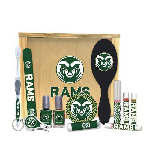 CO-CSU-WBGK: Colorado State Rams Women's Beauty Gift Box (12 Pieces)