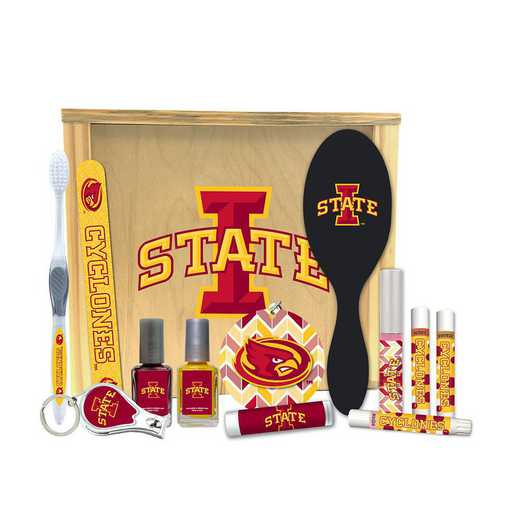 IA-ISU-WBGK: Iowa State Cyclones Women's Beauty Gift Box (12 Pieces)