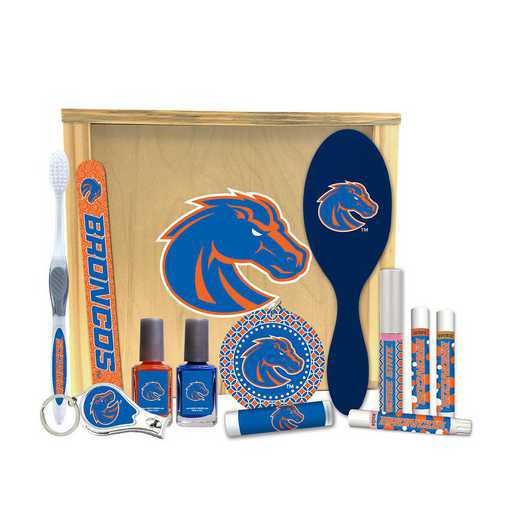 ID-BSU-WBGK: Boise State Broncos Women's Beauty Gift Box (12 Pieces)
