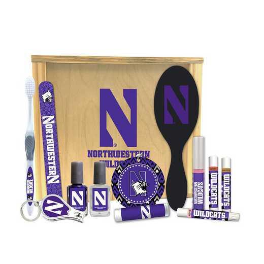 IL-NU-WBGK: Northwestern University Wildcats Women's Beauty Gift Box (12 Pieces)