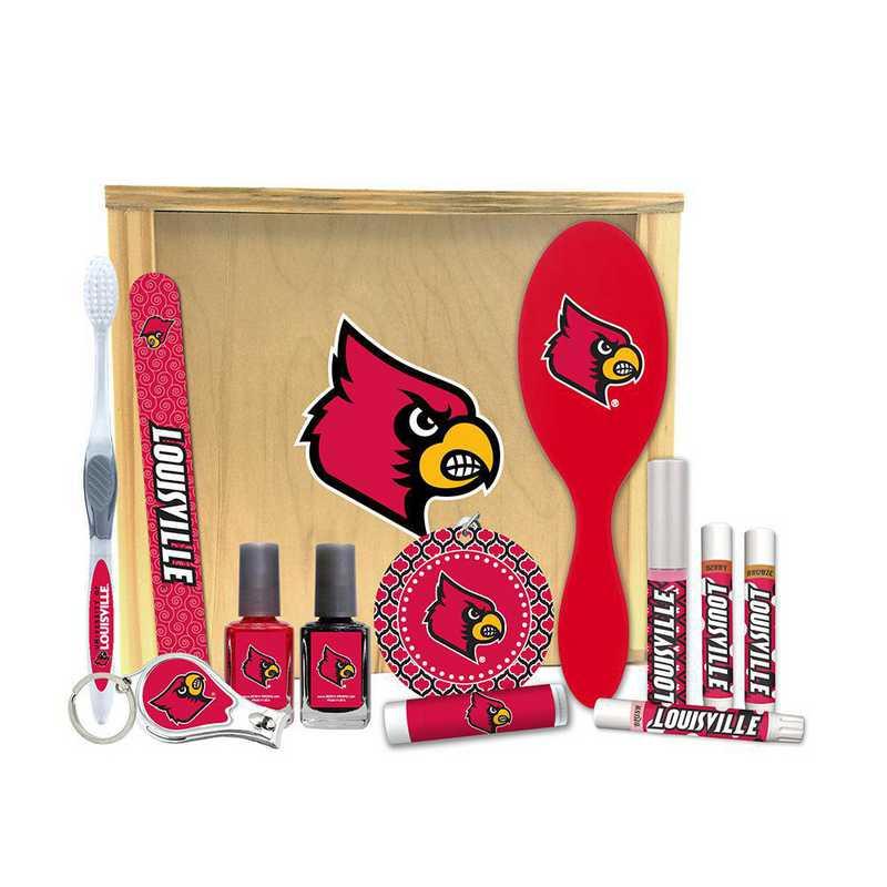 KY-UL-WBGK: Louisville Cardinals Women's Beauty Gift Box (12 Pieces)