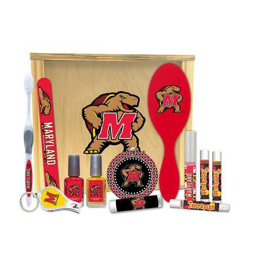 MD-UM-WBGK: Maryland Terrapins Women's Beauty Gift Box (12 Pieces)