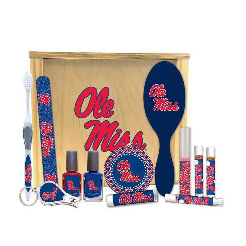 MS-OM-WBGK: Mississippi (Ole Miss) Rebels Women's Beauty Gift Box (12 Pieces)