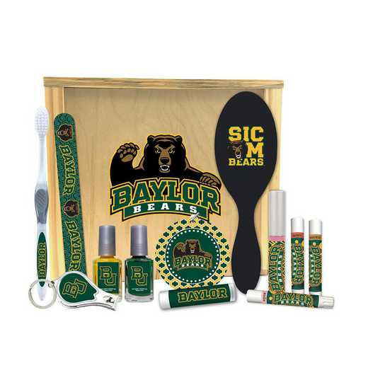 TX-BU-WBGK: Baylor Bears Women's Beauty Gift Box (12 Pieces)