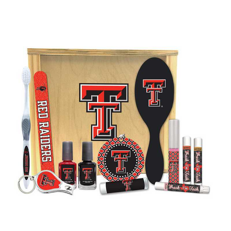 TX-TXT-WBGK: Texas Tech Red Raiders Women's Beauty Gift Box (12 Pieces)
