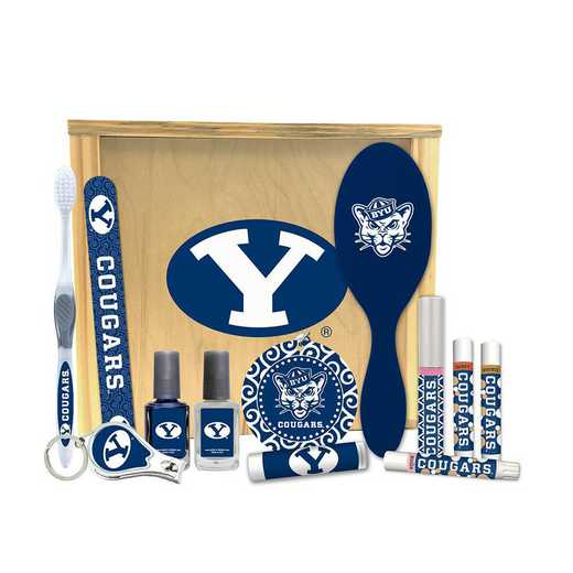 UT-BYU-WBGK: Brigham Young Cougars Women's Beauty Gift Box (12 Pieces)