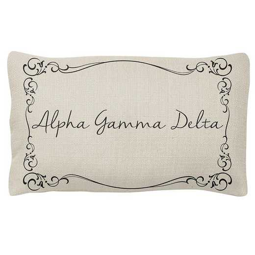 AA3024AGD: Alex Co LUMBAR PILLOW ALPHA GAMMA DELTA