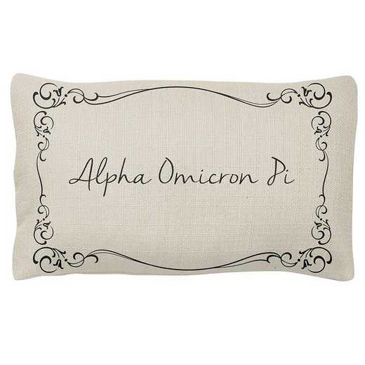 AA3024AOP: Alex Co LUMBAR PILLOW ALPHA OMEGA PI