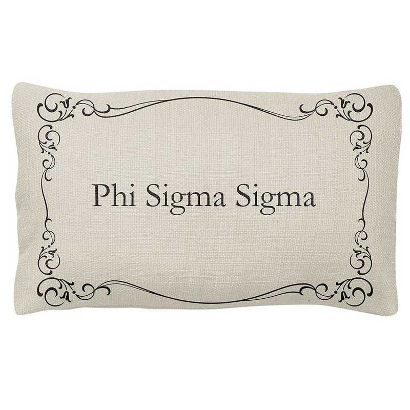 AA3024PSS: Alex Co LUMBAR PILLOW PHI SIGMA SIGMA