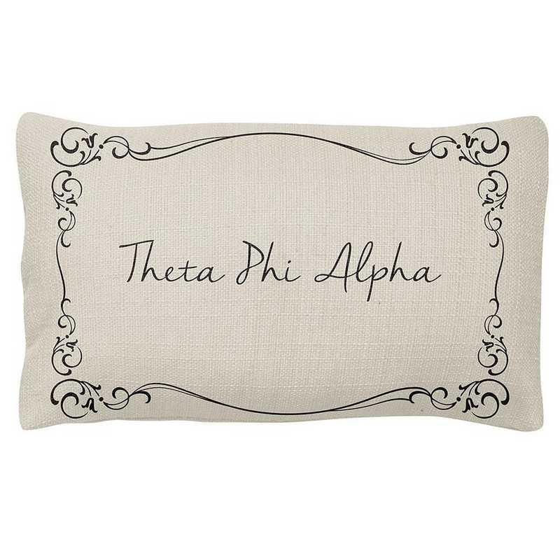 AA3024TPA: Alex Co LUMBAR PILLOW THETA PHI ALPHA