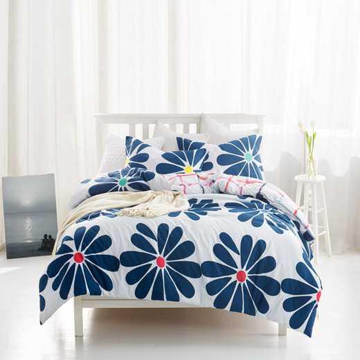 L1-CBBYB-TXL: Cobalt Bloom Twin XL Comforter