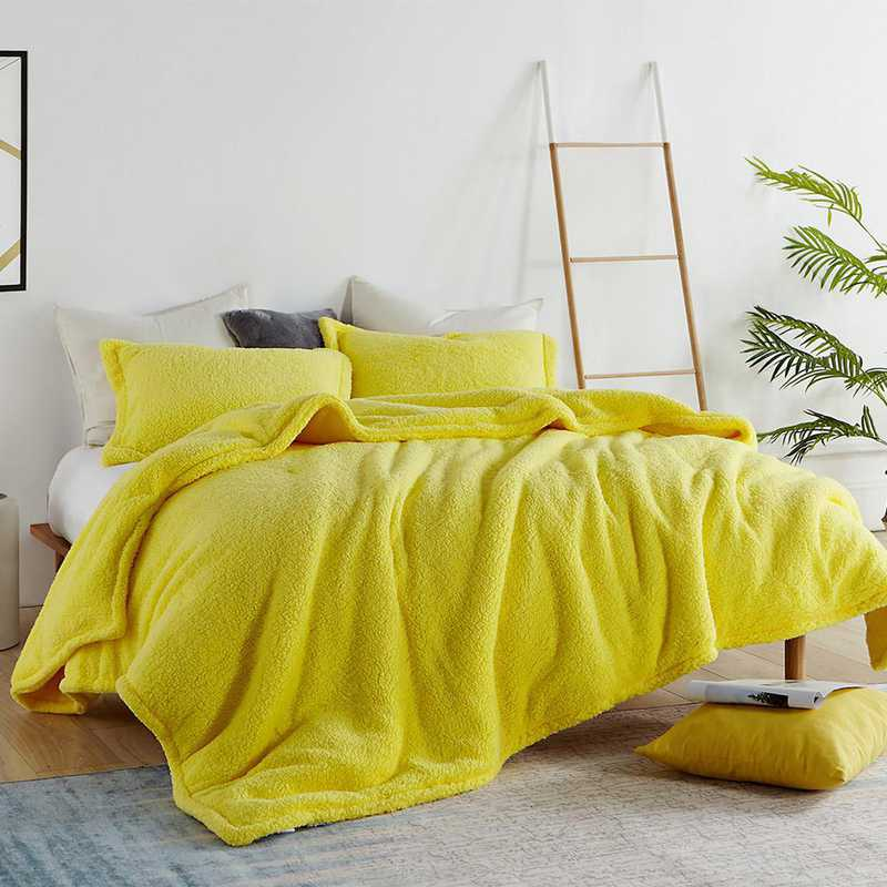 TN-204C-LY-TXL: DormCo Coma Inducer Twin XL Dorm Comforter - The Napper - Limelight Yellow