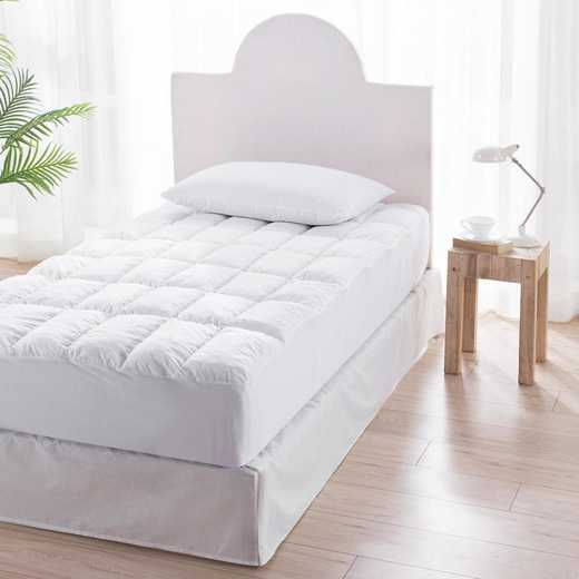 PP-MEMORY-MP-TXL-CS: Pure Plush Twin XL Mattress Pad Memory Foam Compact Square