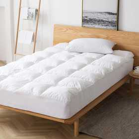 PP-MEMORY-MP-TXL-LS: Pure Plush Twin XL Mattress Pad - Memory Foam - Large Square