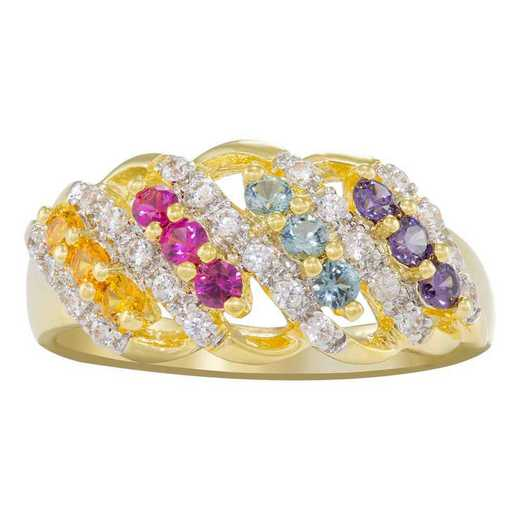 Mother's Four Row Family Birthstone Ring