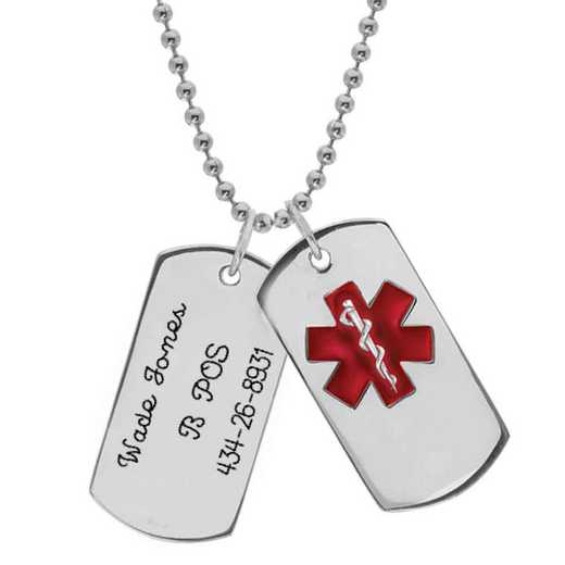 Men's Medical ID Tag Pendant