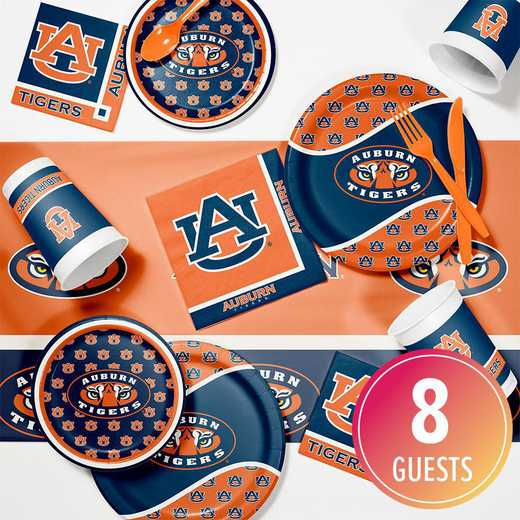 DTC4830C2A: CC Auburn University Game Day Party Supplies Kit 8ct